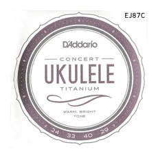 [다다리오] Daddario EJ87C Titanium Ukulele, Concert